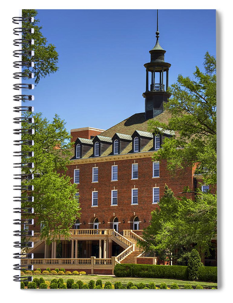 Oklahoma Spiral Notebook featuring the photograph Osu Student Union by Ricky Barnard