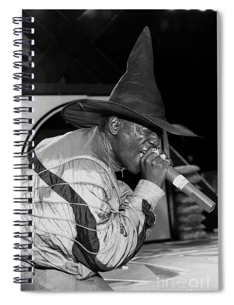 Rapper Spiral Notebook featuring the photograph Public Enemy - Flavor Fav by Concert Photos