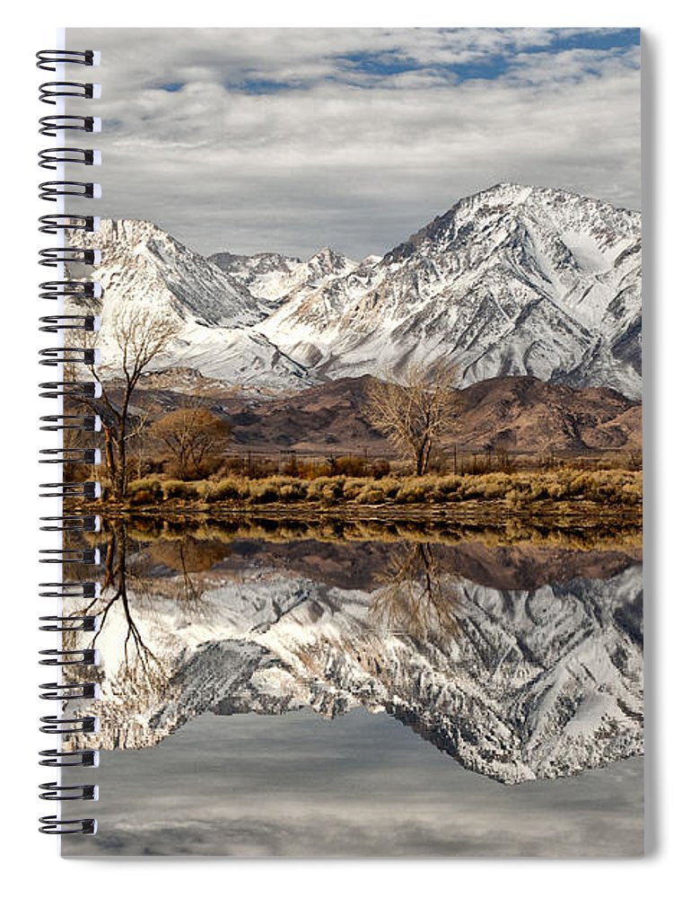 Water Spiral Notebook featuring the photograph Sierra Reflections by Cat Connor