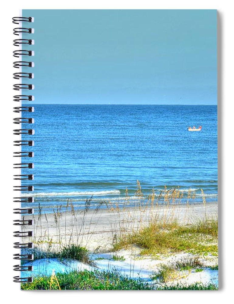 Beach Spiral Notebook featuring the photograph Solitude by Debbi Granruth