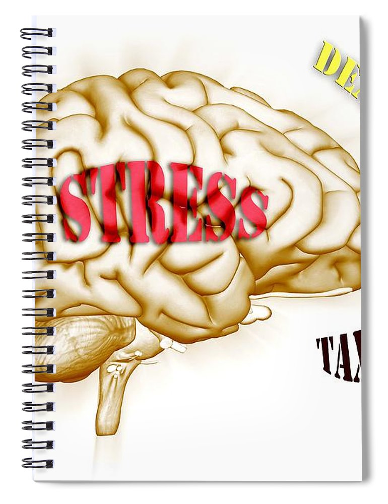 Anguish Spiral Notebook featuring the photograph Stress by Scott Camazine
