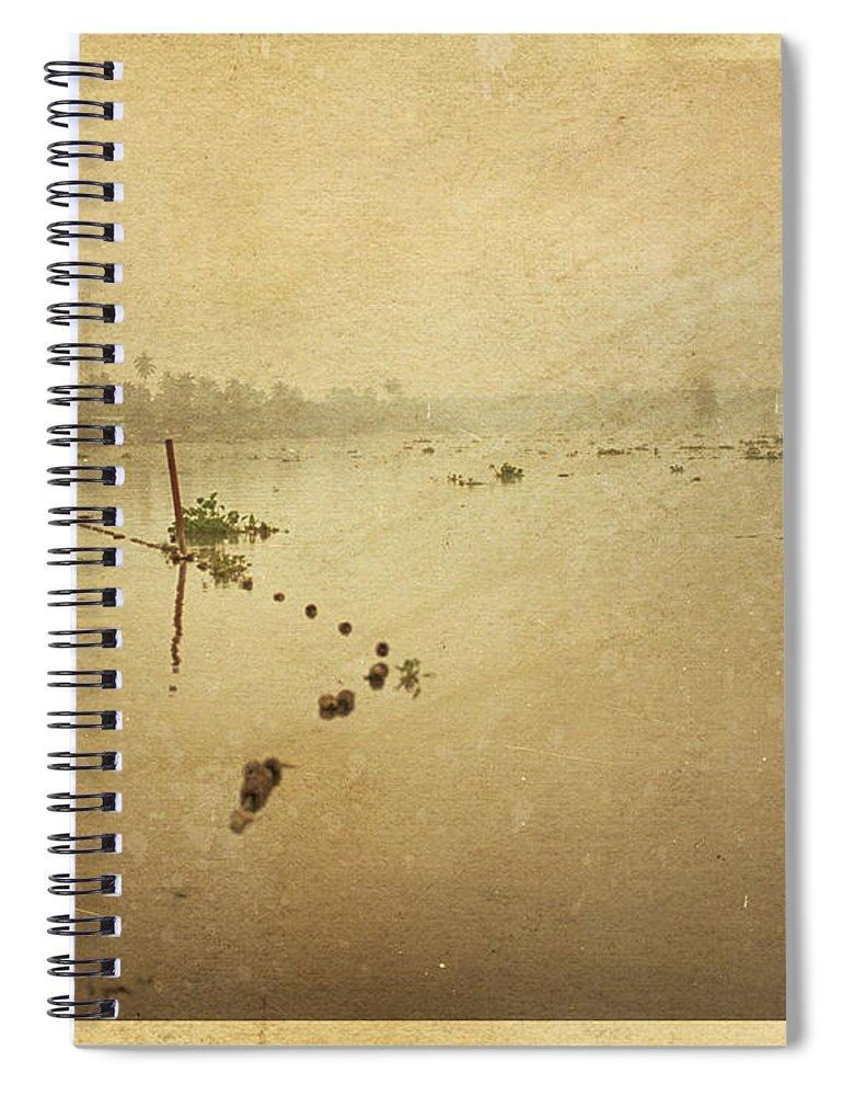 Thailand Spiral Notebook featuring the photograph Thai River Life by Setsiri Silapasuwanchai