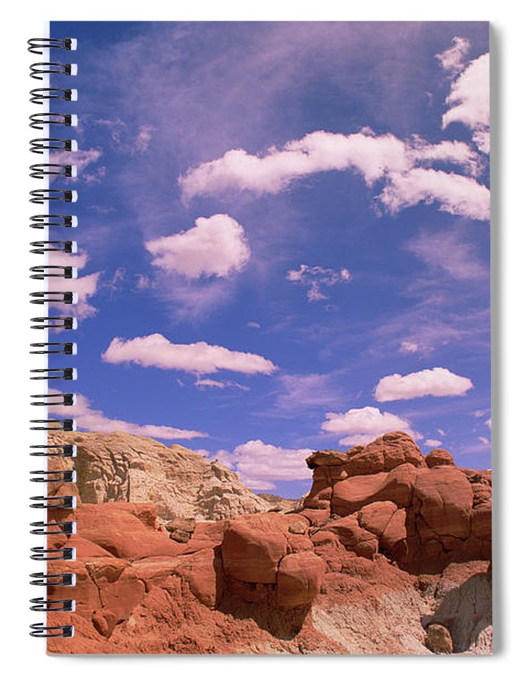 00340961 Spiral Notebook featuring the photograph Toadstool Caprocks Grand by Yva Momatiuk John Eastcott