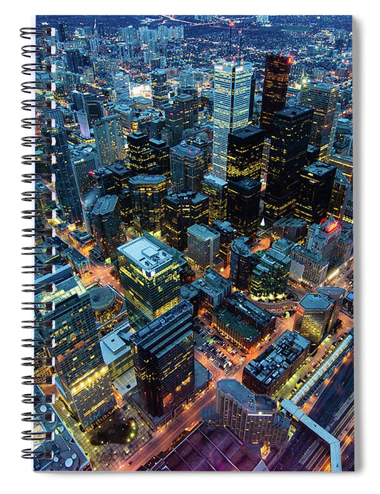 Toronto Spiral Notebook featuring the photograph Toronto by Naeem Jaffer