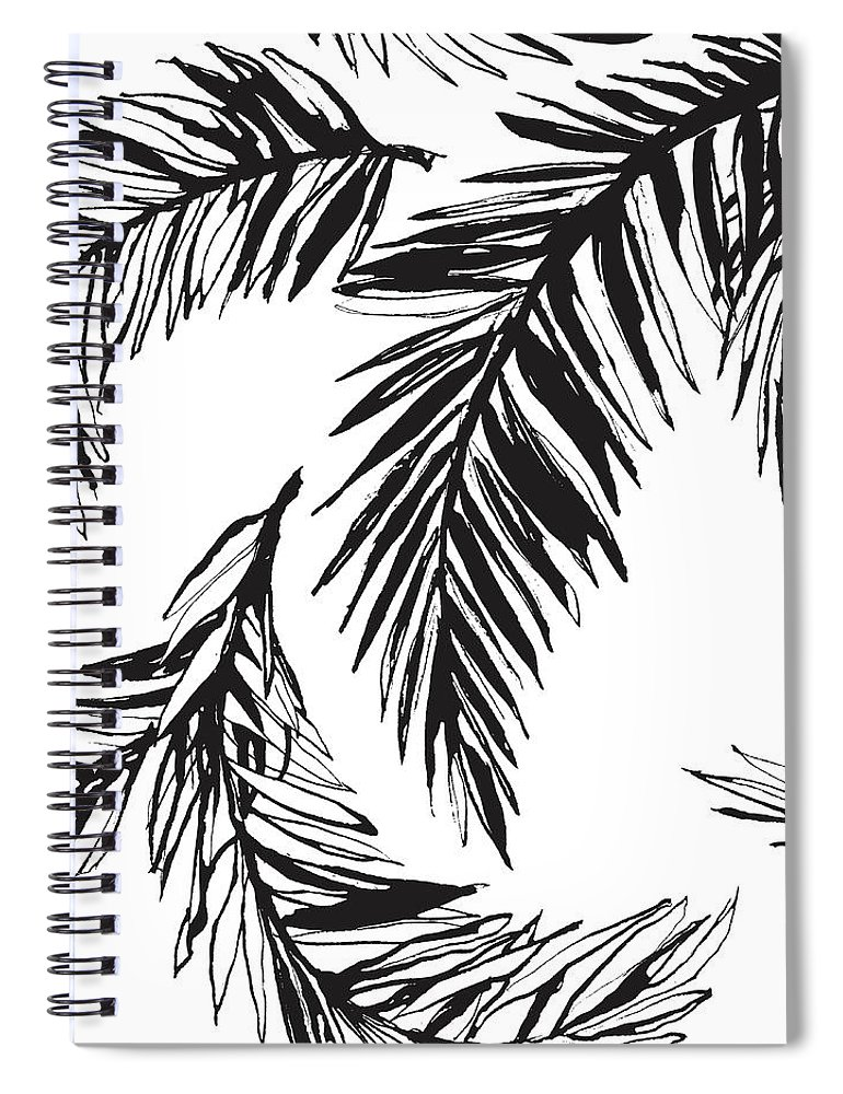 Tropical Rainforest Spiral Notebook featuring the digital art Tropical Jungle Floral Seamless by Sv sunny