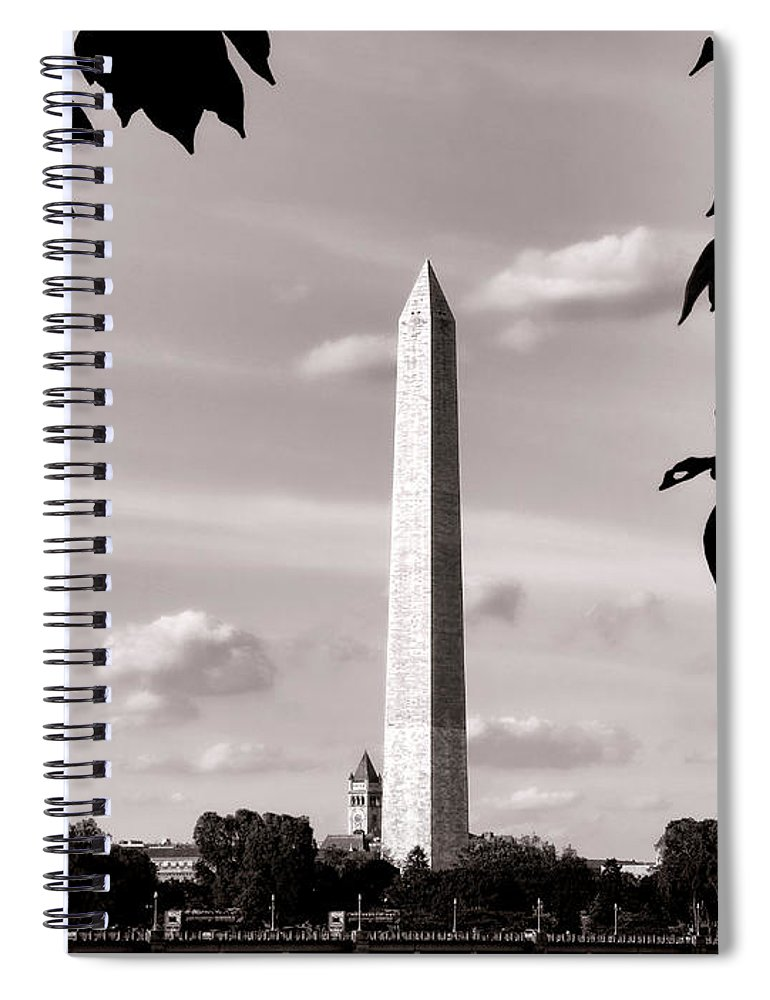 Washington Spiral Notebook featuring the photograph Majestic Washington Monument by Olivier Le Queinec