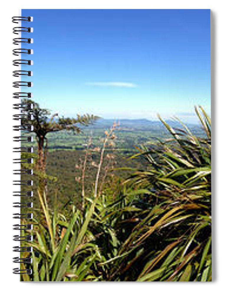 Bush Spiral Notebook featuring the photograph New Zealand by Les Cunliffe