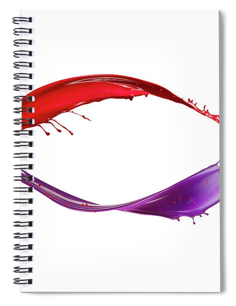 White Background Spiral Notebook featuring the photograph Splashing Of The Color Paint by Level1studio