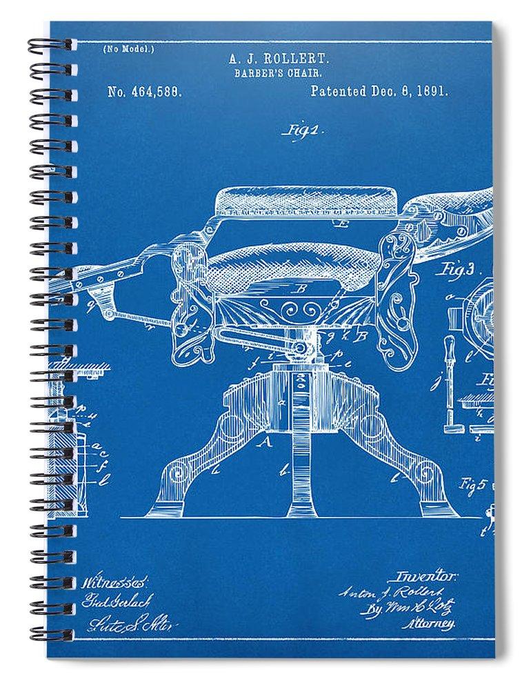 1891 barbers chair patent artwork blueprint spiral notebook for barber chair spiral notebook featuring the digital art 1891 barbers chair patent artwork blueprint by nikki malvernweather Choice Image