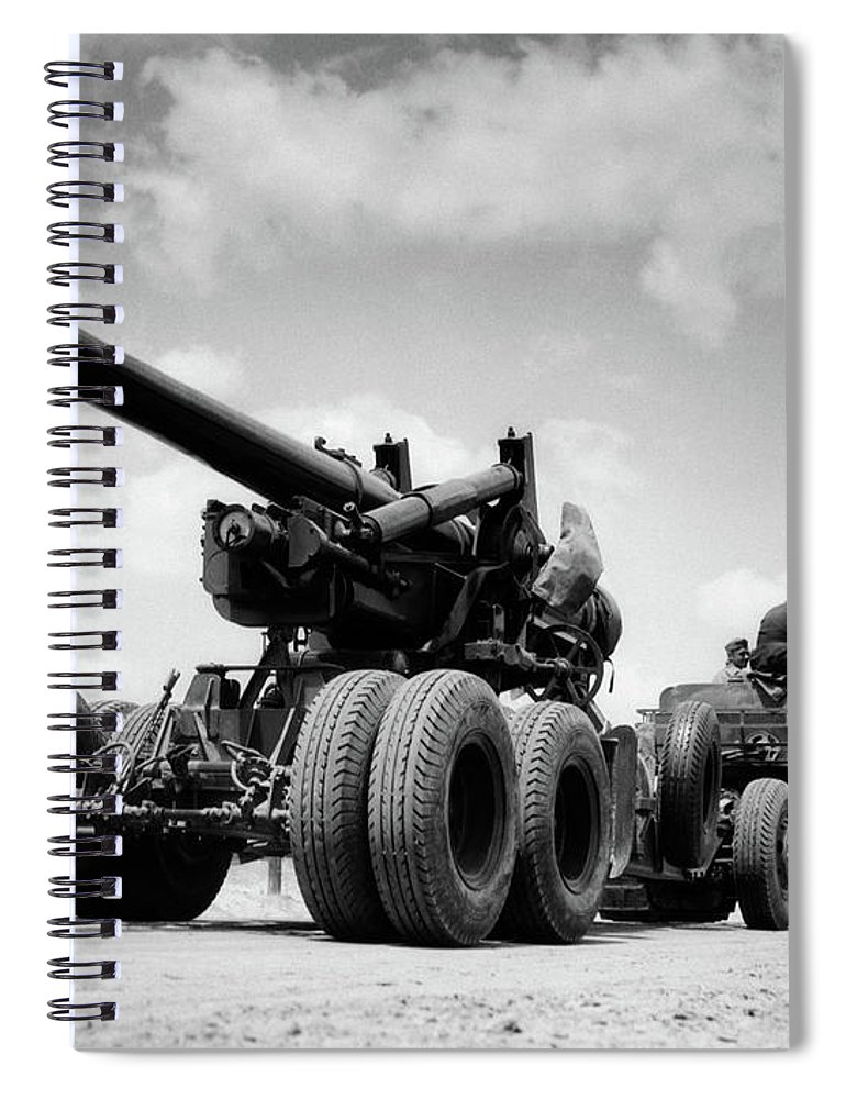 Photography Spiral Notebook featuring the painting 1940s Army Track Laying Vehicle by Vintage Images