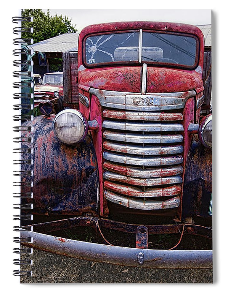 Gmc Spiral Notebook featuring the photograph 1940s G M C Truck by Daniel Hagerman