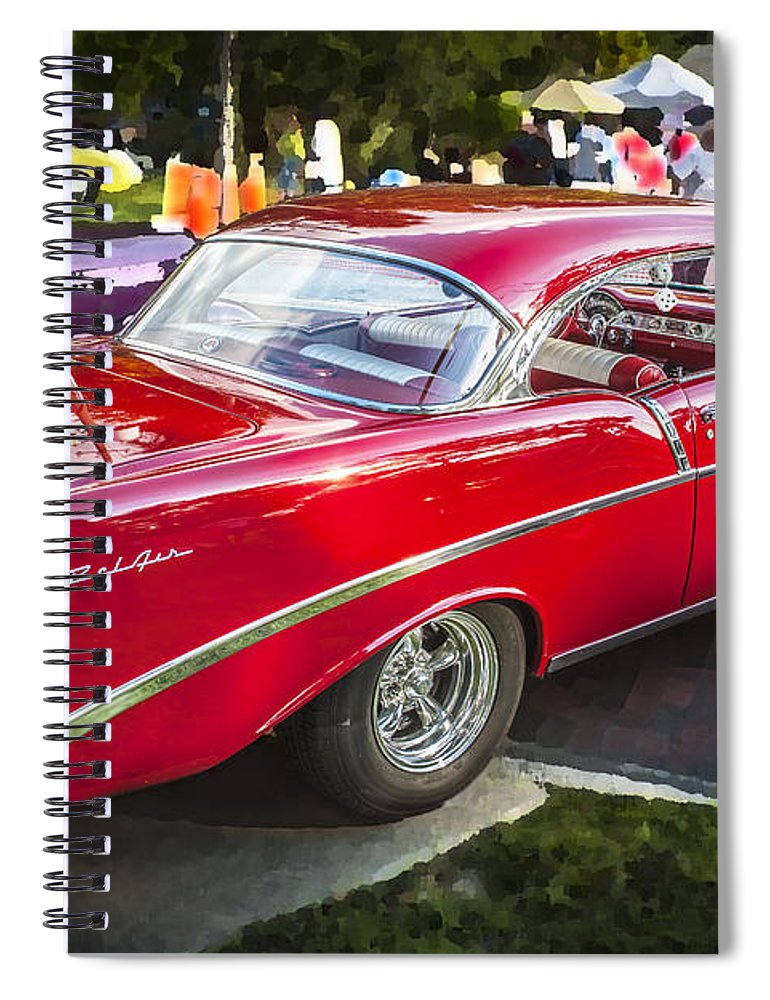 210 Spiral Notebook featuring the photograph 1956 Chevrolet Bel Air 210 1956 by Rich Franco