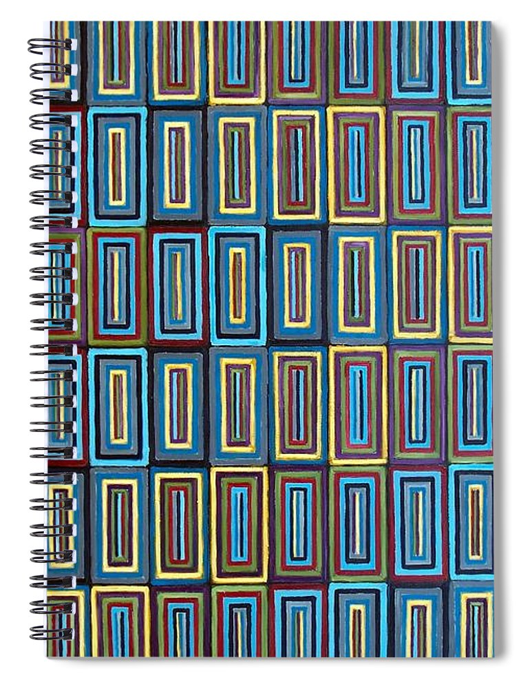 Art Spiral Notebook featuring the painting A Contemplation of Identity by RB McGrath