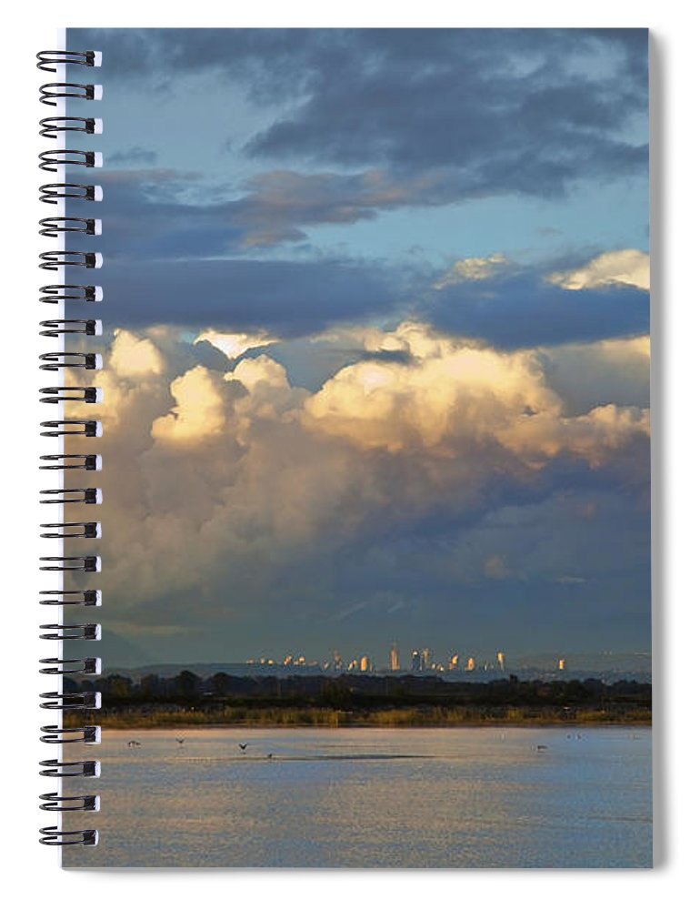 Delta Spiral Notebook featuring the photograph Canoe Pass Vancouver B C by Theresa Tahara