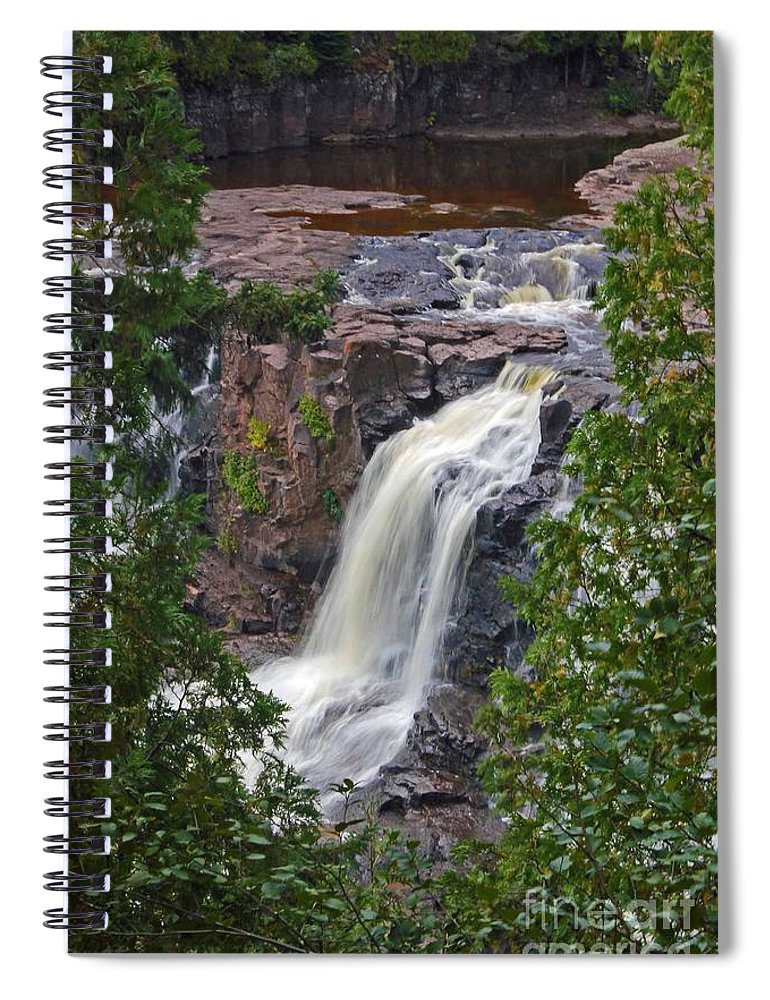 Gooseberry Falls Spiral Notebook featuring the photograph Gooseberry Falls by Stephanie Hanson