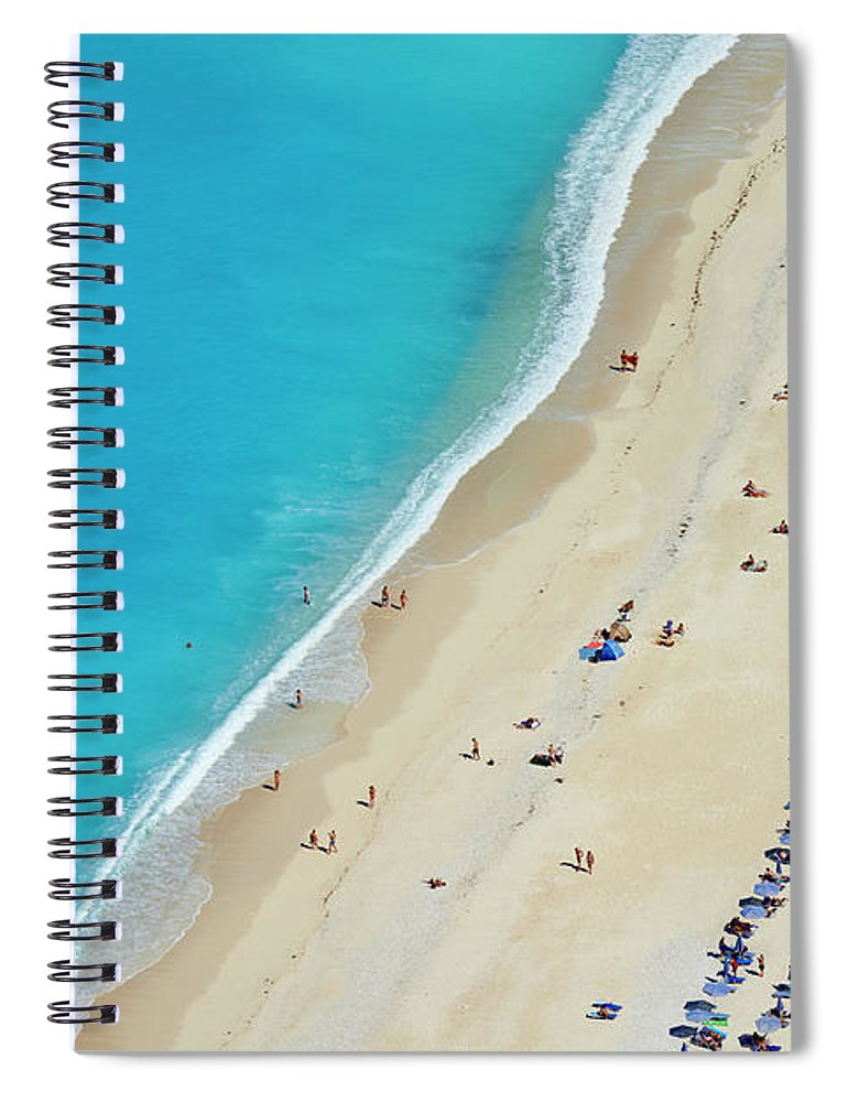 Water's Edge Spiral Notebook featuring the photograph Greece, Ionian Island, Cephalonia by Tuul & Bruno Morandi