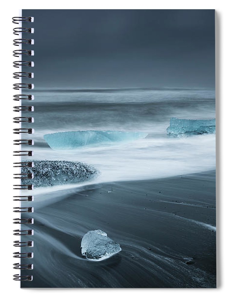 Water's Edge Spiral Notebook featuring the photograph Iceland by Jeremy Walker