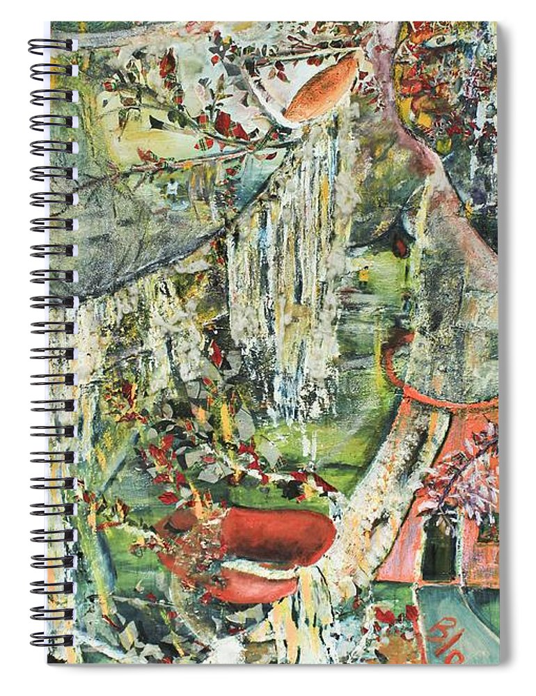 Landscape Spiral Notebook featuring the painting Island Wonder by Peggy Blood