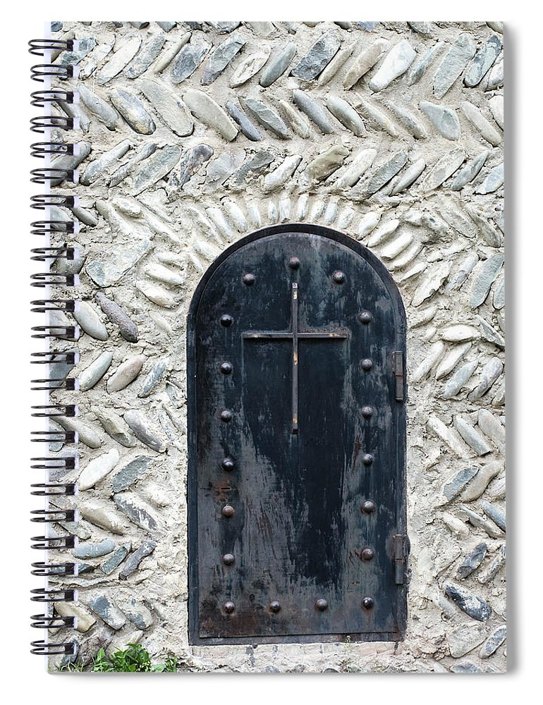 Arch Spiral Notebook featuring the photograph Medieval Door by ????? ???????
