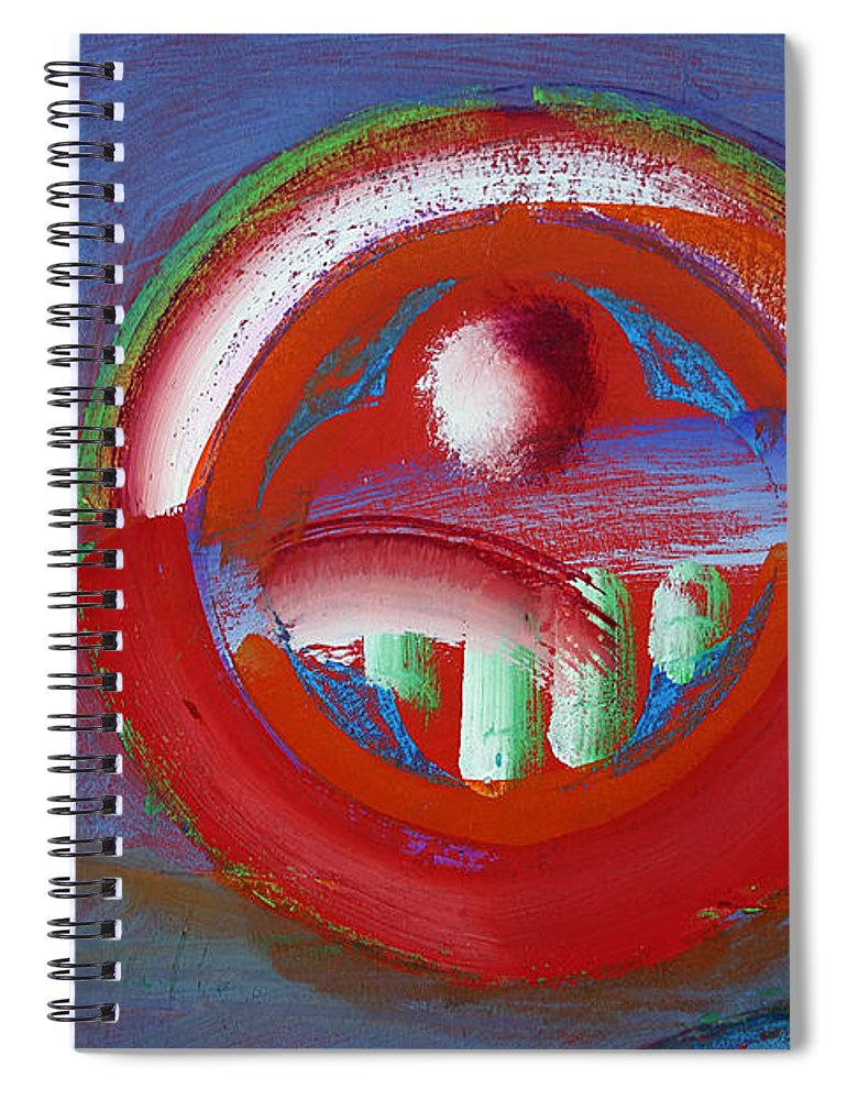 Texas Art Spiral Notebook featuring the painting Red Planet by Charles Stuart