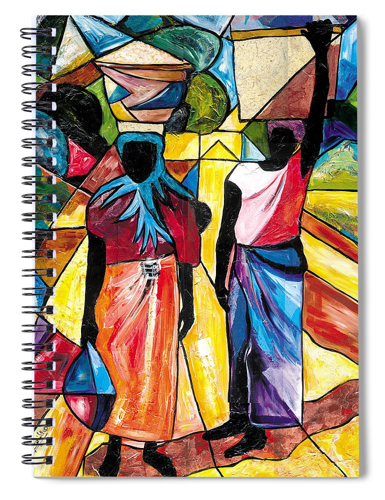 Everett Spruill Spiral Notebook featuring the painting Road to the Market by Everett Spruill