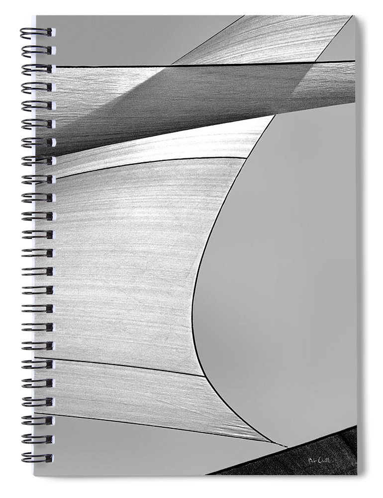 Abstract Spiral Notebook featuring the photograph Sailcloth Abstract Number 4 by Bob Orsillo