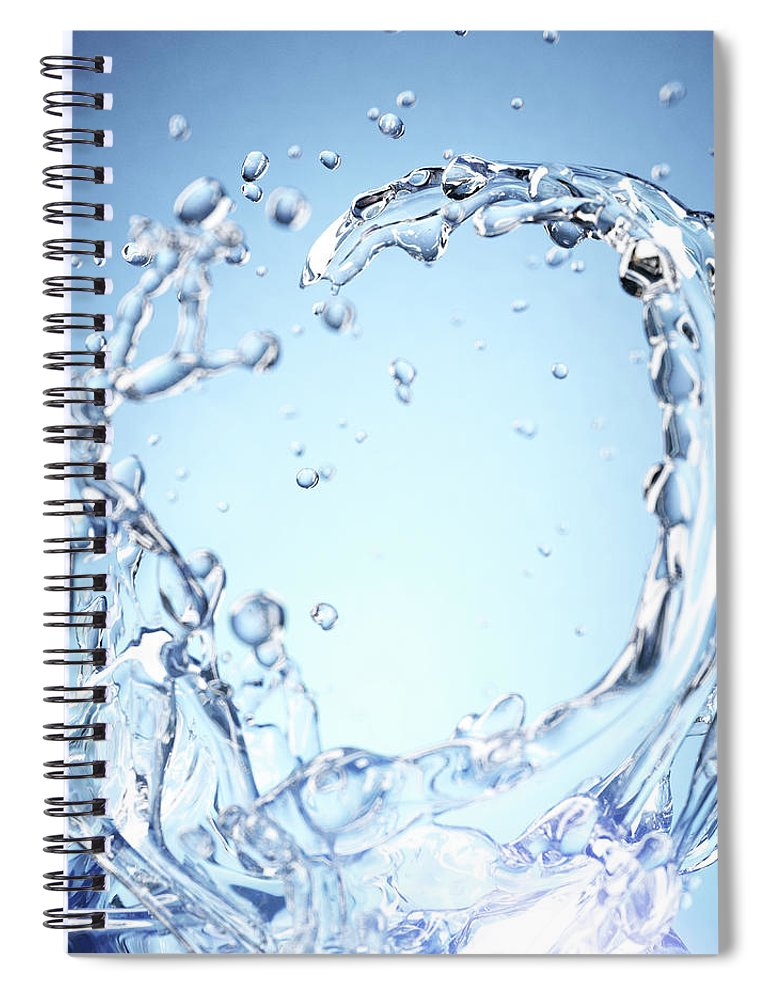 Motion Spiral Notebook featuring the digital art Splash Of Water by Maciej Frolow