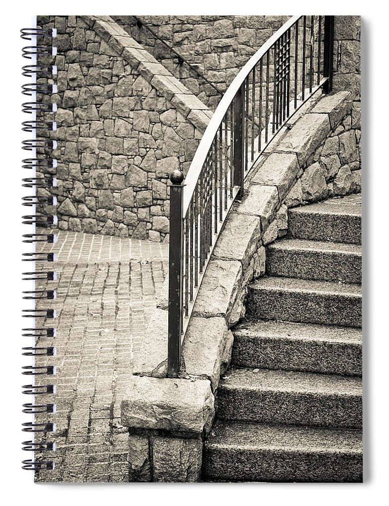 Access Spiral Notebook featuring the photograph Stone Steps by Tom Gowanlock