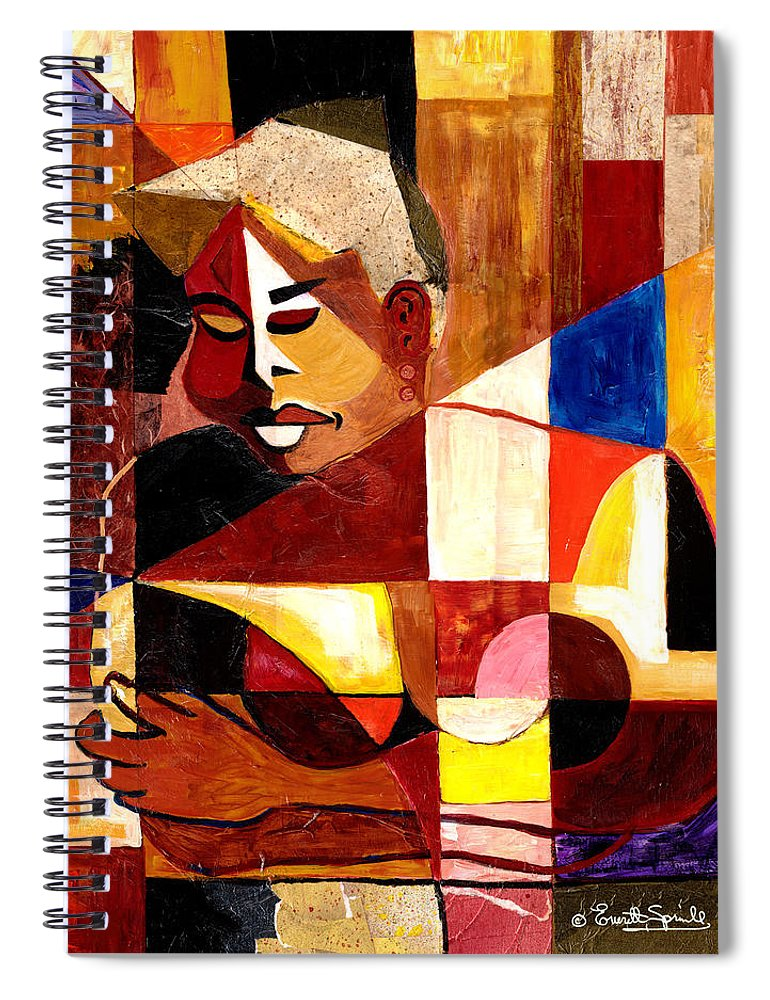Everett Spruill Spiral Notebook featuring the painting The Matriarch - Take 2 by Everett Spruill