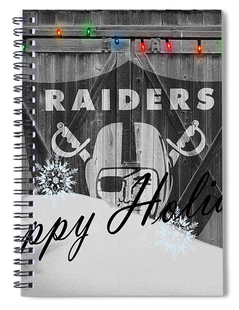 Raiders Spiral Notebook featuring the photograph Oakland Raiders by Joe Hamilton
