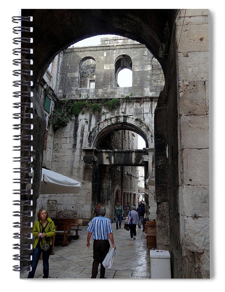 Split Croatia Spiral Notebook featuring the photograph Views Of Split Croatia by Richard Rosenshein