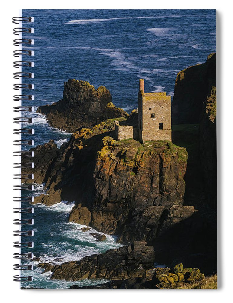 Scenics Spiral Notebook featuring the photograph Abandoned Tin Mines Near Bottalack by Doug Armand