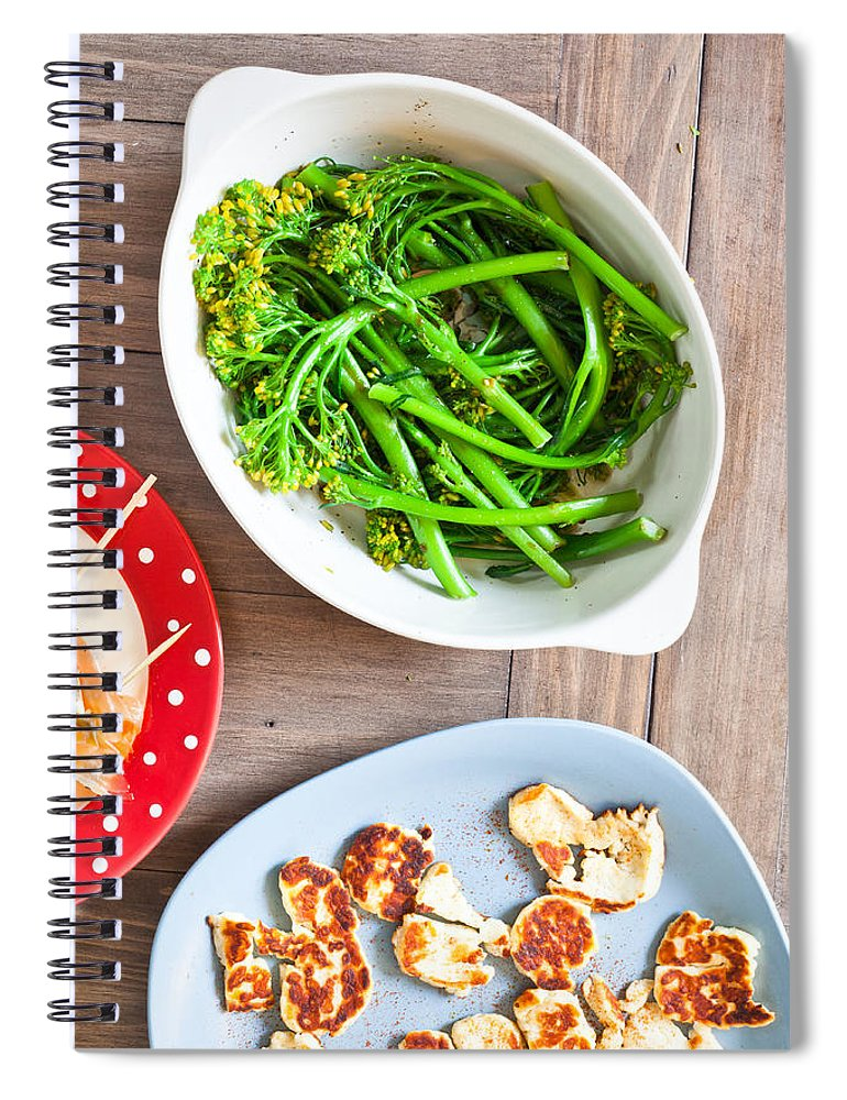 Appetizer Spiral Notebook featuring the photograph Broccoli Stems by Tom Gowanlock