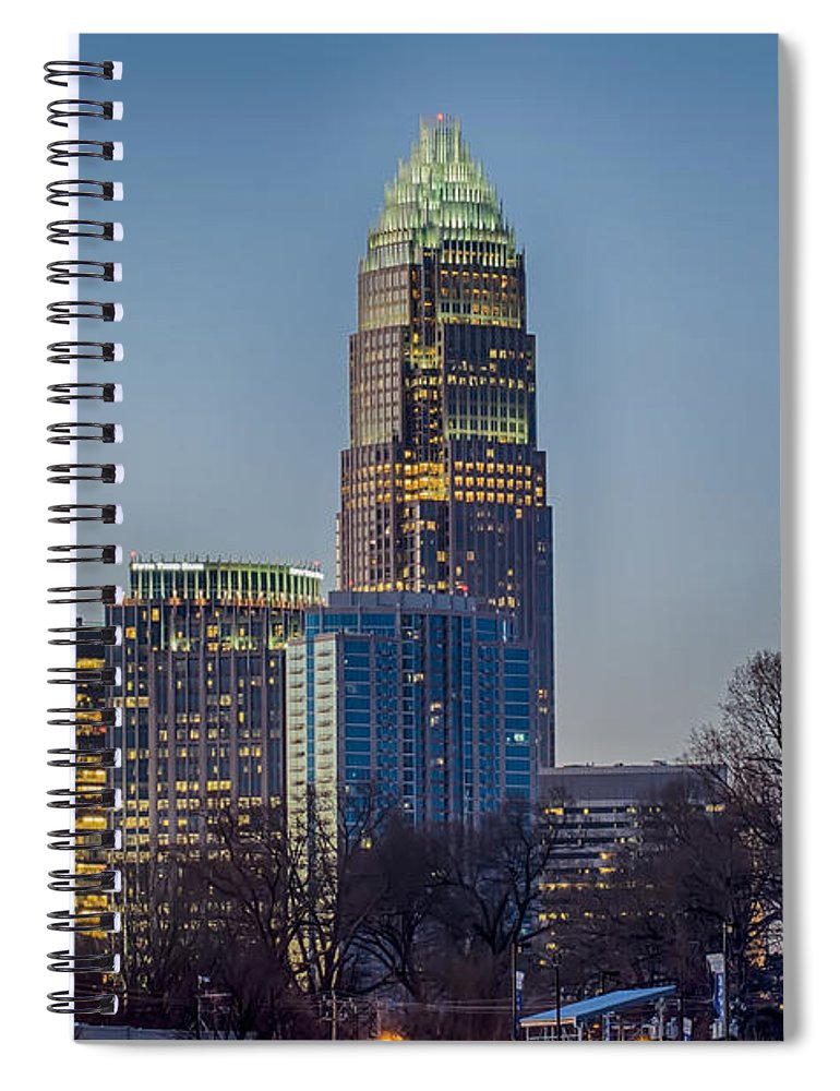 Early Spiral Notebook featuring the photograph Early Morning In Charlotte Nc by Alex Grichenko