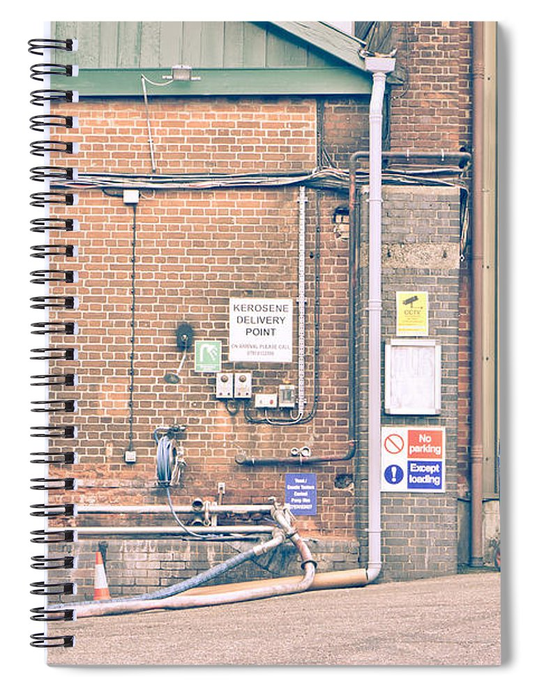 Architecture Spiral Notebook featuring the photograph Factory by Tom Gowanlock