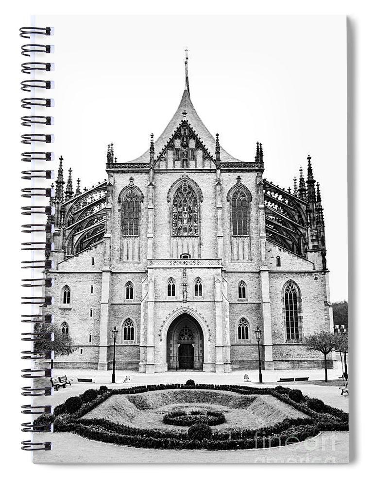 Kutna Hora Spiral Notebook featuring the photograph Saint Barbara Church by Michal Boubin