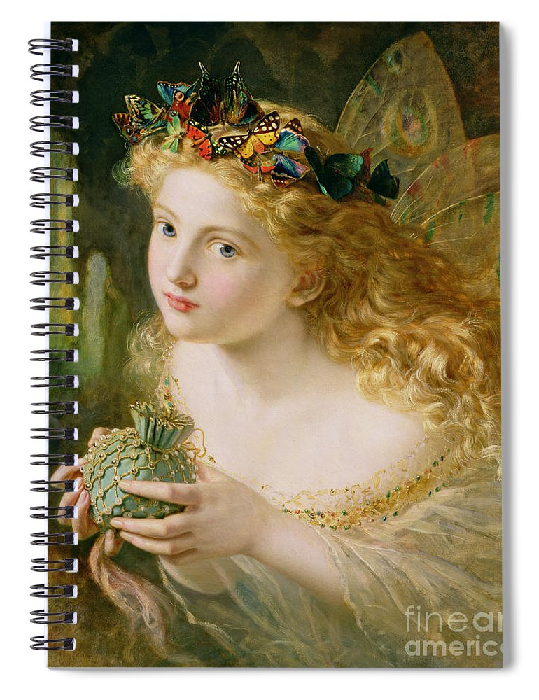 Female Spiral Notebook featuring the painting Take The Fair Face Of Woman by Sophie Anderson