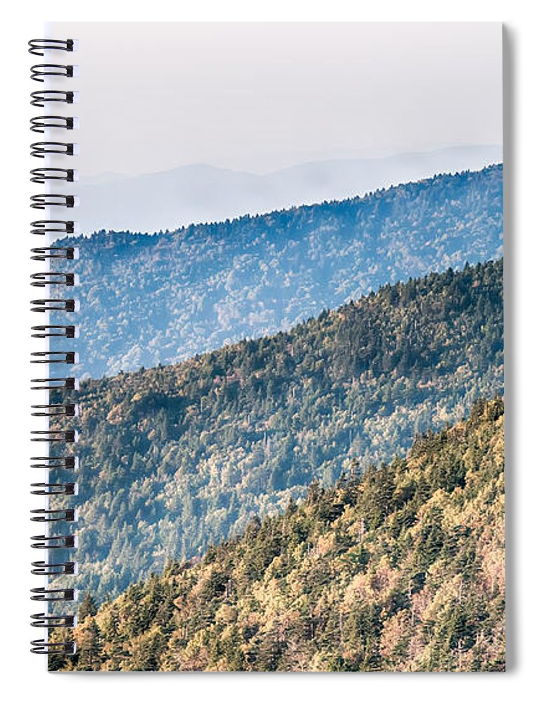 Sunset Spiral Notebook featuring the photograph The Simple Layers Of The Smokies At Sunset - Smoky Mountain Nat. by Alex Grichenko
