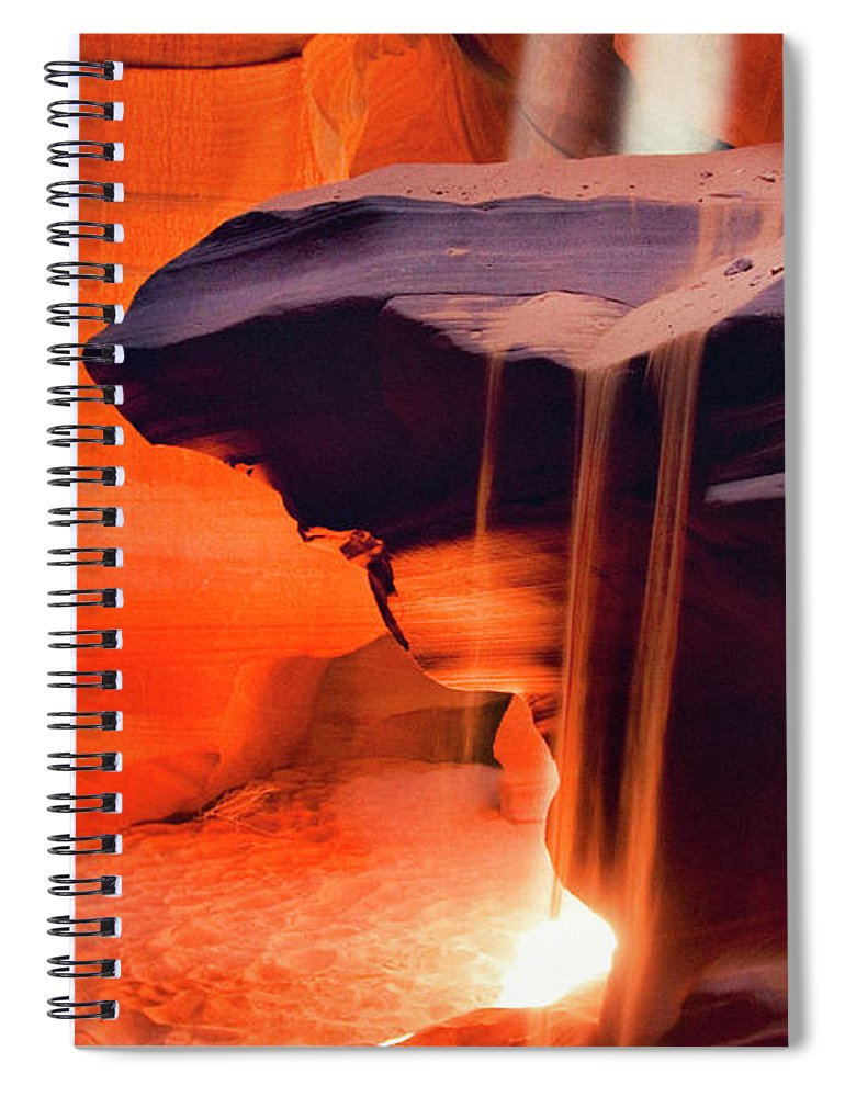 Native American Reservation Spiral Notebook featuring the photograph Upper Antelope Canyon by Powerofforever