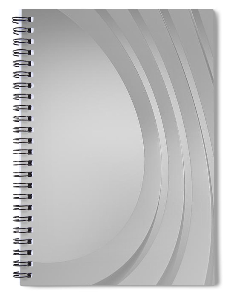 Arch Spiral Notebook featuring the photograph 3d Blank Abstract Architecture by Me4o