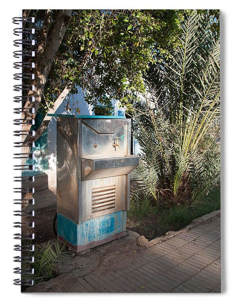 Drinking Water Spiral Notebook featuring the digital art Dakhla by Carol Ailles
