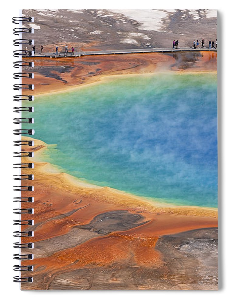 Feb0514 Spiral Notebook featuring the photograph Grand Prismatic Pool Yellowstone Np by Ingo Arndt