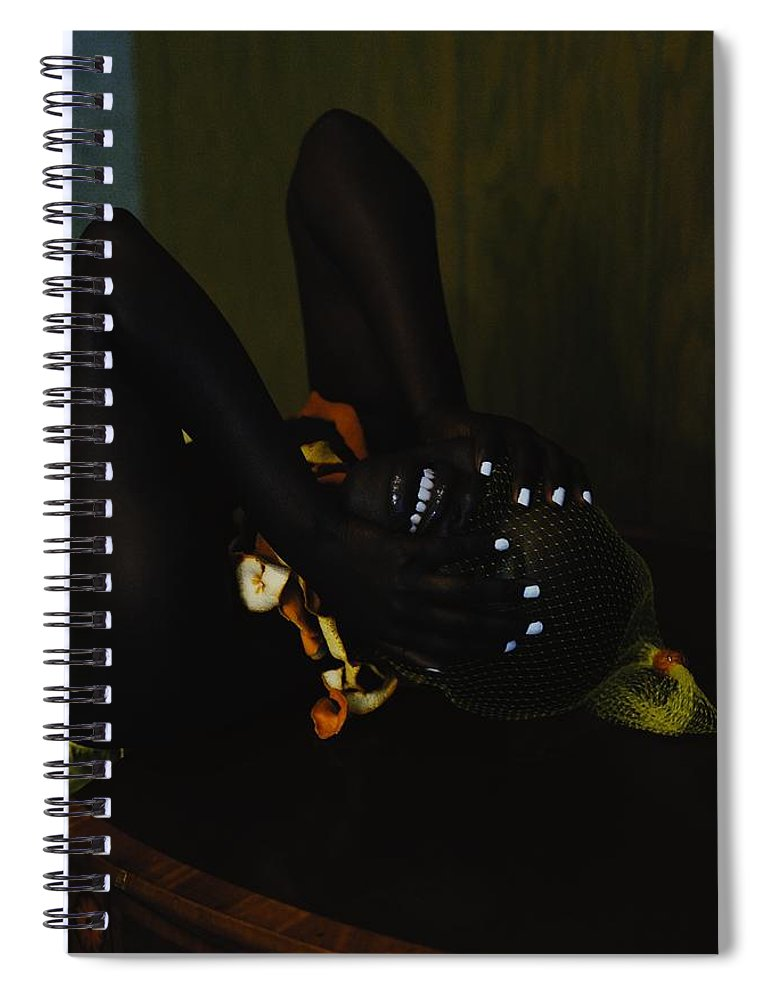 Headwear Spiral Notebook featuring the photograph The Black Victorian by Stephanie Nnamani
