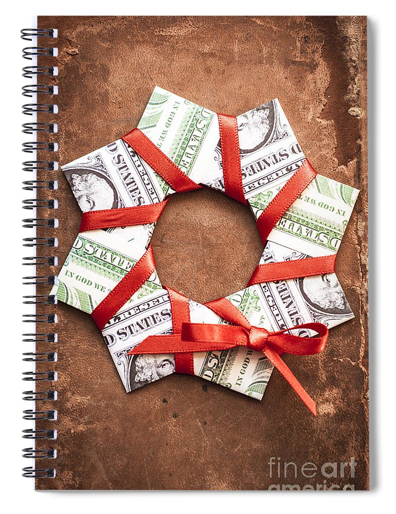 Wreath Spiral Notebook featuring the photograph 4th Of July by Jan Bickerton
