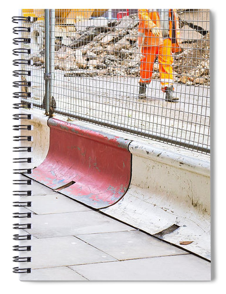 Accident Spiral Notebook featuring the photograph Construction Site by Tom Gowanlock