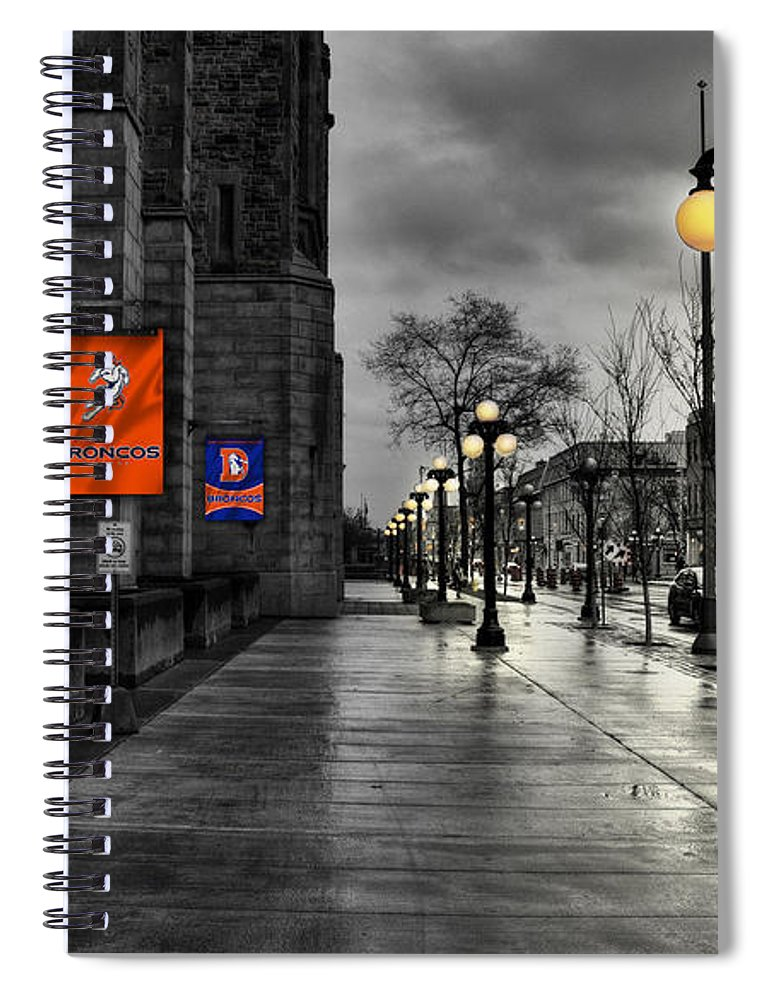 Broncos Spiral Notebook featuring the photograph Denver Broncos by Joe Hamilton