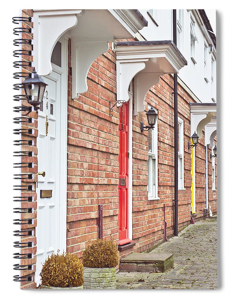 Architecture Spiral Notebook featuring the photograph Modern Homes by Tom Gowanlock