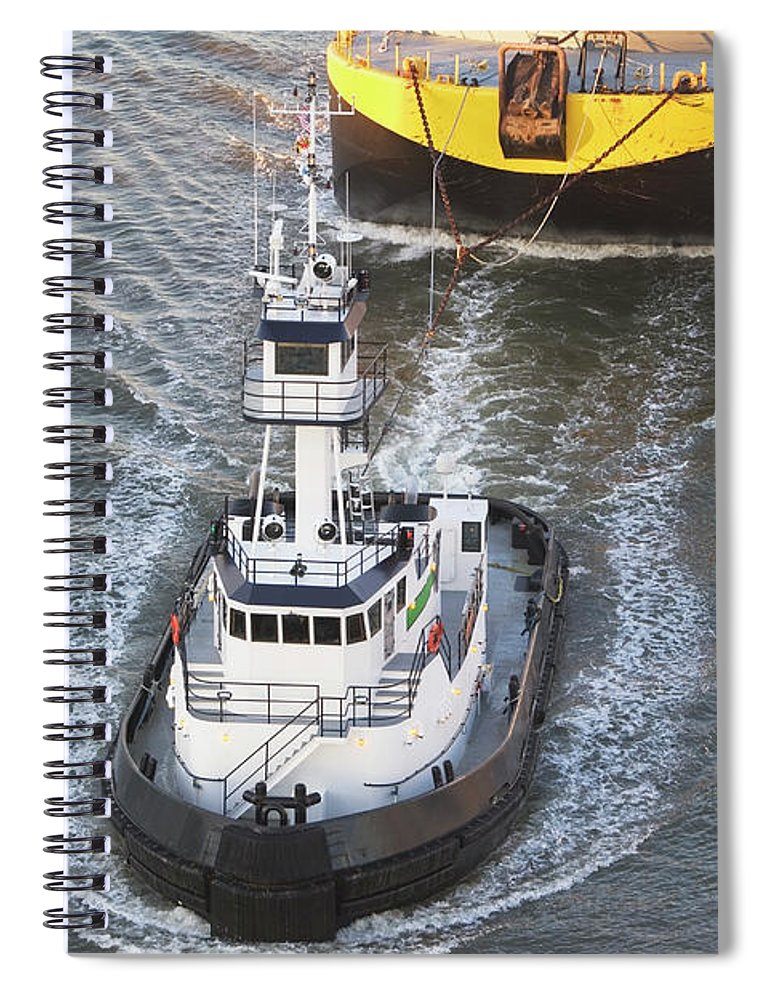 Freight Transportation Spiral Notebook featuring the photograph Usa, New York State, New York City by Fotog