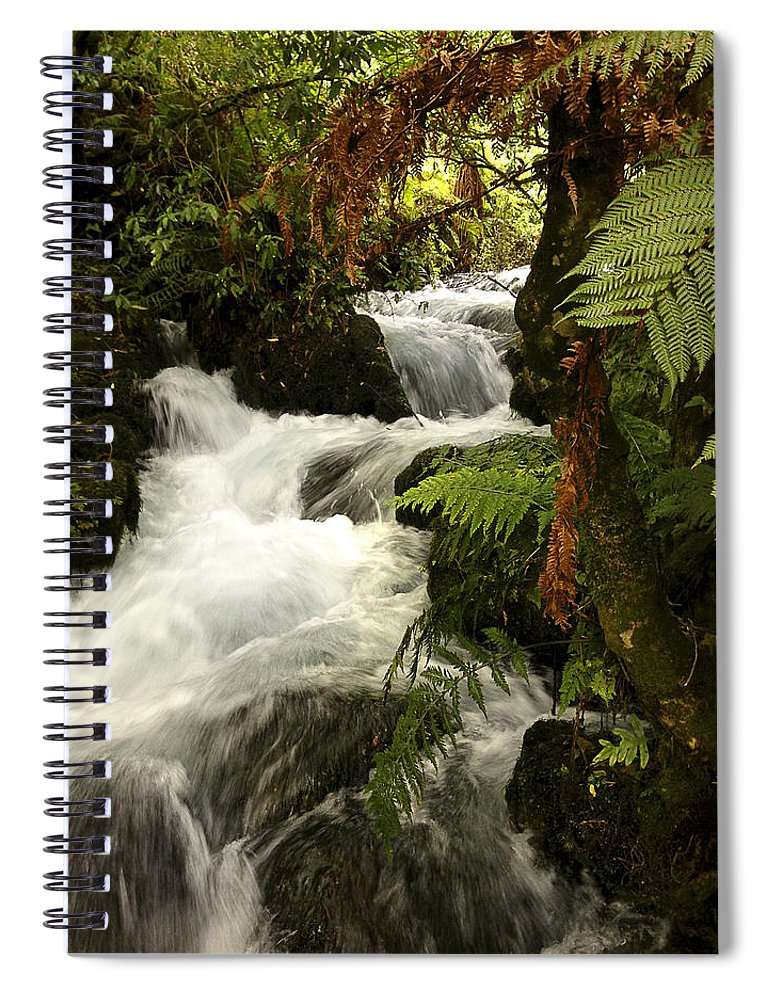 Water Spiral Notebook featuring the photograph Waterfall by Les Cunliffe