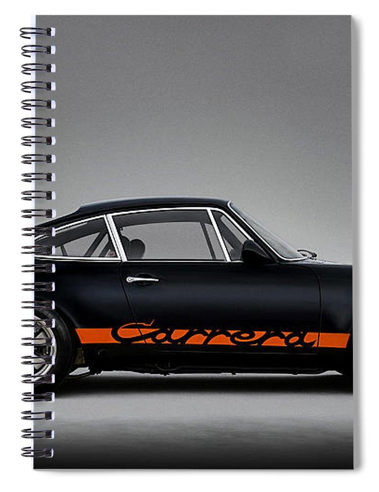 Porsche Spiral Notebook featuring the digital art 911 Carrera Rsr 911 by Douglas Pittman